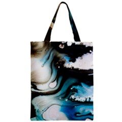Abstract Painting Background Modern Zipper Classic Tote Bag