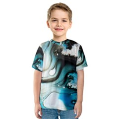 Abstract Painting Background Modern Kids  Sport Mesh Tee