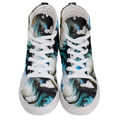 Abstract Painting Background Modern Men s Hi Top Skate Sneakers