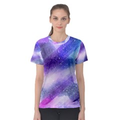 Background Art Abstract Watercolor Women s Sport Mesh Tee