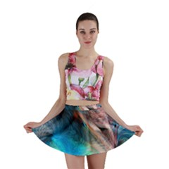 Background Art Abstract Watercolor Mini Skirt