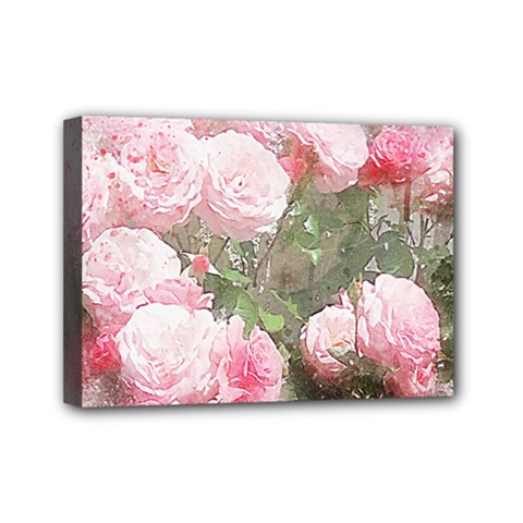 Flowers Roses Art Abstract Nature Mini Canvas 7  X 5