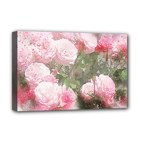 Flowers Roses Art Abstract Nature Deluxe Canvas 18  X 12
