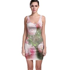 Flowers Roses Art Abstract Nature Bodycon Dress
