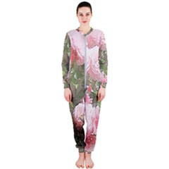 Flowers Roses Art Abstract Nature Onepiece Jumpsuit (ladies)