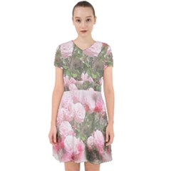 Flowers Roses Art Abstract Nature Adorable In Chiffon Dress