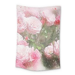 Flowers Roses Art Abstract Nature Small Tapestry