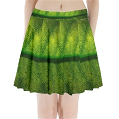 Leaf Nature Green The Leaves Pleated Mini Skirt
