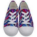 Texture Pattern Fabric Natural Kids  Low Top Canvas Sneakers View1