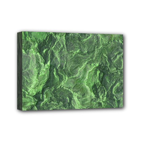 Geological Surface Background Mini Canvas 7  X 5