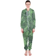 Geological Surface Background Hooded Jumpsuit (ladies)