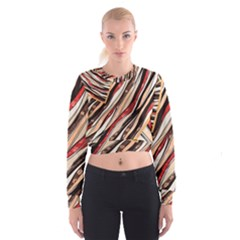 Fabric Texture Color Pattern Cropped Sweatshirt