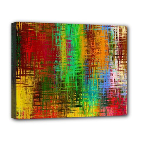 Color Abstract Background Textures Deluxe Canvas 20  X 16