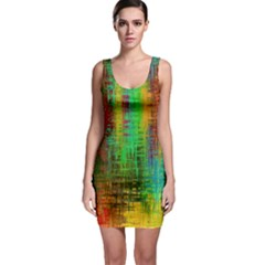 Color Abstract Background Textures Bodycon Dress