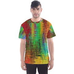 Color Abstract Background Textures Men s Sports Mesh Tee