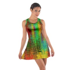 Color Abstract Background Textures Cotton Racerback Dress