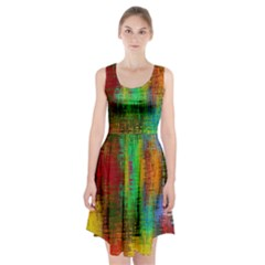 Color Abstract Background Textures Racerback Midi Dress