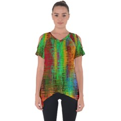 Color Abstract Background Textures Cut Out Side Drop Tee