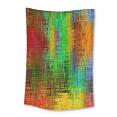 Color Abstract Background Textures Small Tapestry