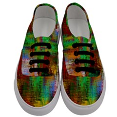 Color Abstract Background Textures Men s Classic Low Top Sneakers