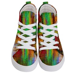 Color Abstract Background Textures Kid s Hi Top Skate Sneakers