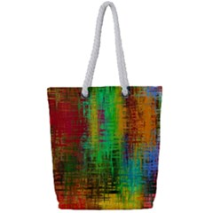 Color Abstract Background Textures Full Print Rope Handle Tote (small)