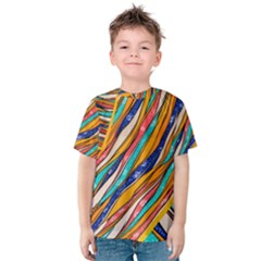 Fabric Texture Color Pattern Kids  Cotton Tee