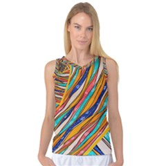 Fabric Texture Color Pattern Women s Basketball Tank Top