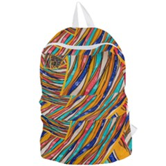 Fabric Texture Color Pattern Foldable Lightweight Backpack