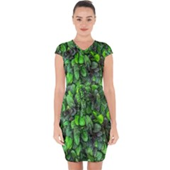 The Leaves Plants Hwalyeob Nature Capsleeve Drawstring Dress