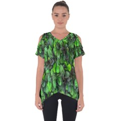 The Leaves Plants Hwalyeob Nature Cut Out Side Drop Tee