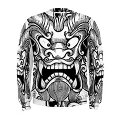 Japanese Onigawara Mask Devil Ghost Face Men s Sweatshirt