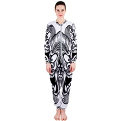 Japanese Onigawara Mask Devil Ghost Face Onepiece Jumpsuit (ladies)