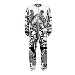 Japanese Onigawara Mask Devil Ghost Face Onepiece Jumpsuit (kids)