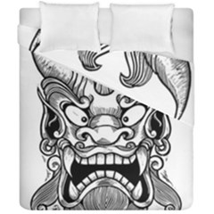Japanese Onigawara Mask Devil Ghost Face Duvet Cover Double Side (california King Size)