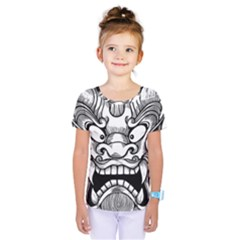 Japanese Onigawara Mask Devil Ghost Face Kids  One Piece Tee