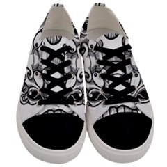 Japanese Onigawara Mask Devil Ghost Face Men s Low Top Canvas Sneakers