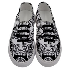 Japanese Onigawara Mask Devil Ghost Face Men s Classic Low Top Sneakers