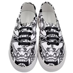 Japanese Onigawara Mask Devil Ghost Face Women s Classic Low Top Sneakers