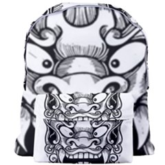 Japanese Onigawara Mask Devil Ghost Face Giant Full Print Backpack
