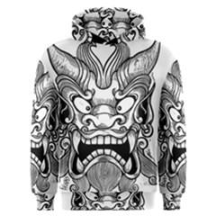 Japanese Onigawara Mask Devil Ghost Face Men s Overhead Hoodie