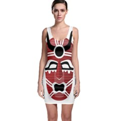 Africa Mask Face Hunter Jungle Devil Bodycon Dress