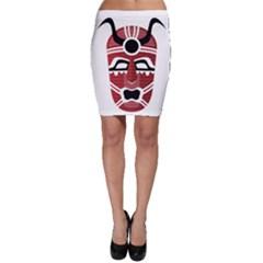 Africa Mask Face Hunter Jungle Devil Bodycon Skirt