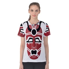 Africa Mask Face Hunter Jungle Devil Women s Cotton Tee