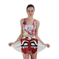 Africa Mask Face Hunter Jungle Devil Mini Skirt