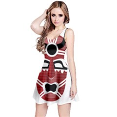 Africa Mask Face Hunter Jungle Devil Reversible Sleeveless Dress