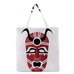 Africa Mask Face Hunter Jungle Devil Grocery Tote Bag