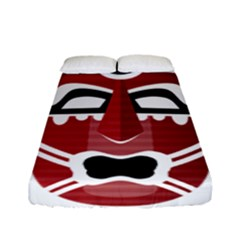 Africa Mask Face Hunter Jungle Devil Fitted Sheet (full/ Double Size)