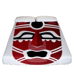 Africa Mask Face Hunter Jungle Devil Fitted Sheet (queen Size)