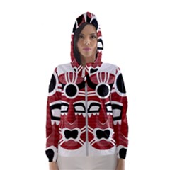 Africa Mask Face Hunter Jungle Devil Hooded Wind Breaker (women)